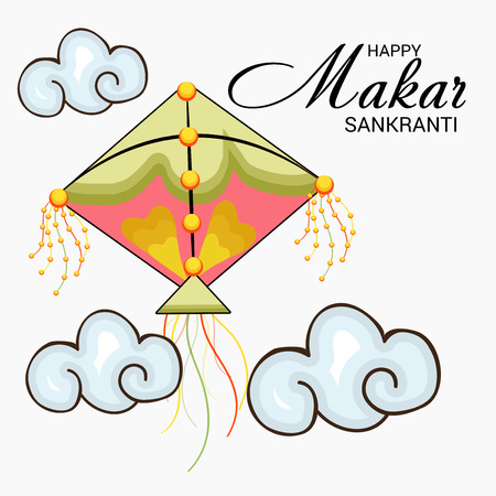 Makar Sankranti greeting card vector