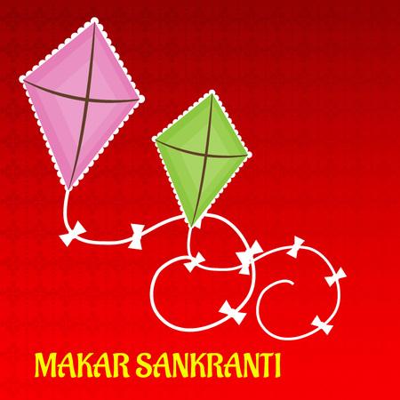 Happy Makar Sankranti greeting card vector
