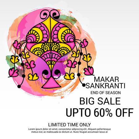 Makar Sankranti vector illustration.