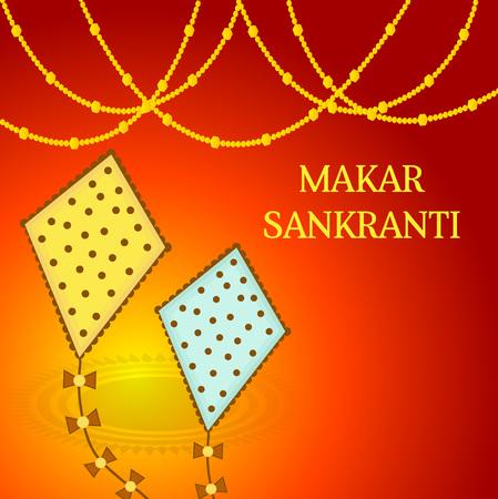 Makar sankranti greeting card with kite vector illustration royalty makar sankranti greeting card with kite vector illustration stock vector 92419656 m4hsunfo