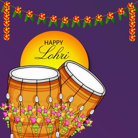 Happy Lohri on plain background..