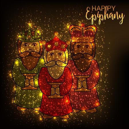 Happy Epiphany. Иллюстрация