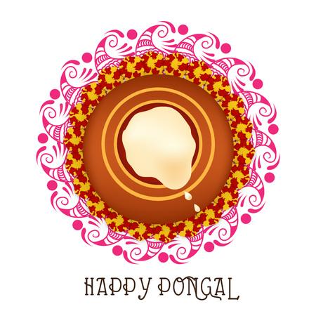 Happy pongal illustration Stock Vector - 92521801