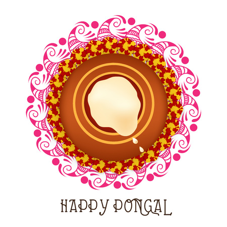 Happy pongal illustration
