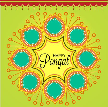 Happy pongal illustration