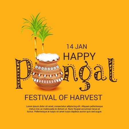 Happy Pongal. Stock Vector - 93076650