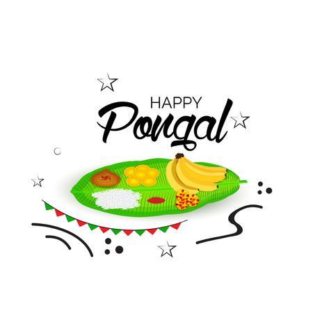 Happy Pongal banner. Illustration