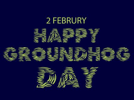 Happy Groundhog Day Vectores