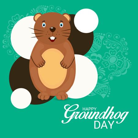 Happy Groundhog Day. Illustration