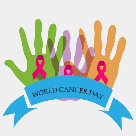 World Cancer Day. Illustration