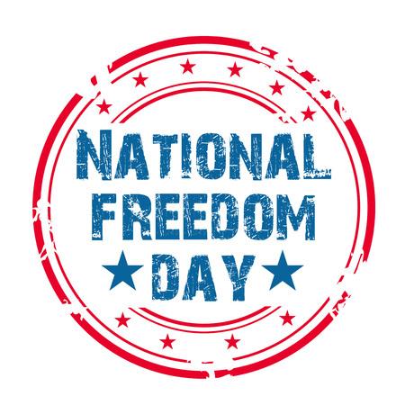 National Freedom Day illustration.