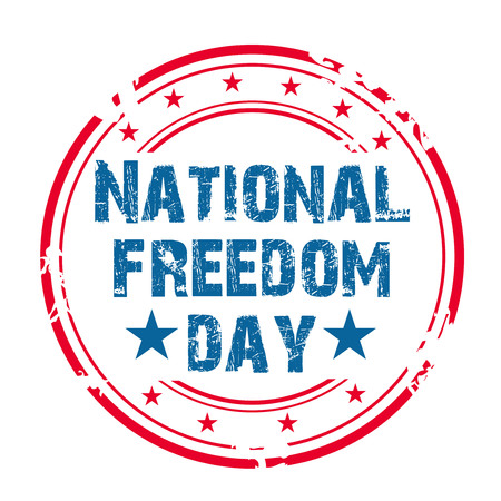 National Freedom Day illustration. Stok Fotoğraf - 93687999