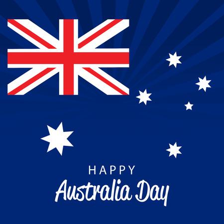 World Australia Day blue background Vector illustration.