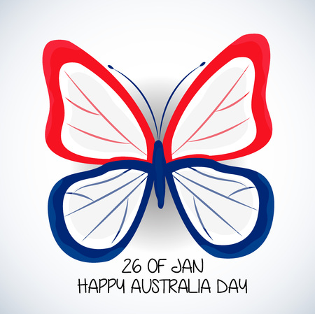 Happy Australia Day greeting card design.