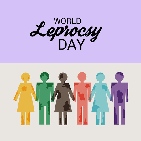 World Leprosy day vector with people icon. Illustration
