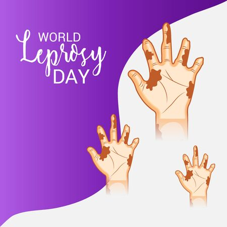 Wereld Lepra dag. Vector illustratie Stock Illustratie