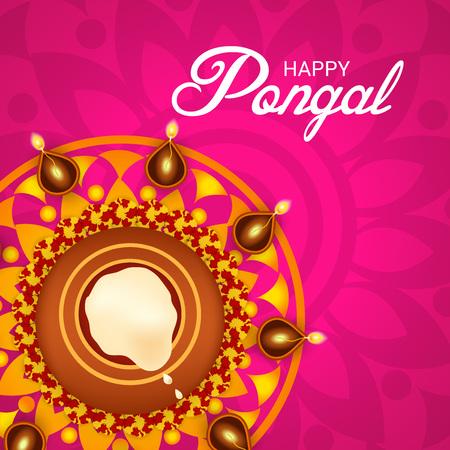 Happy Pongal. Vector illustration.