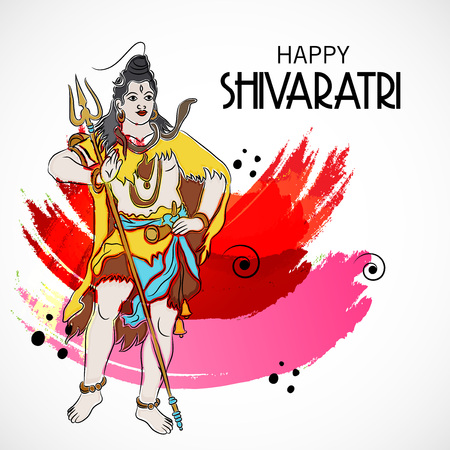Happy Shivratri. Vector illustration.