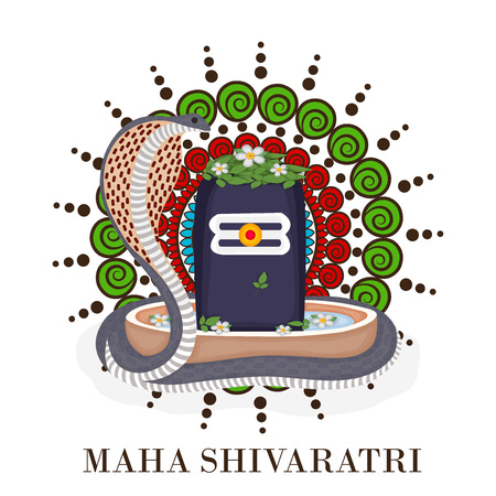 Happy Shivratri festival. Vector illustration.