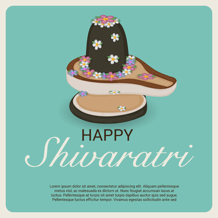 Happy Shivratri festival flyer. Vector illustration. Illustration