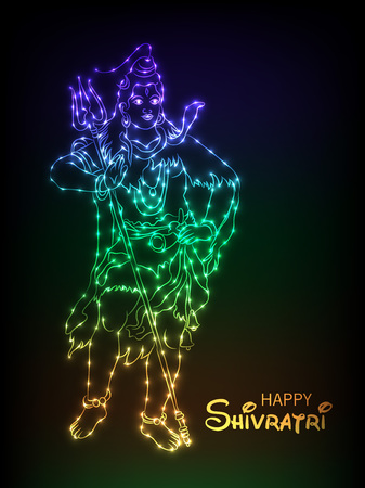 Happy Shivratri typography illustration. Illustration