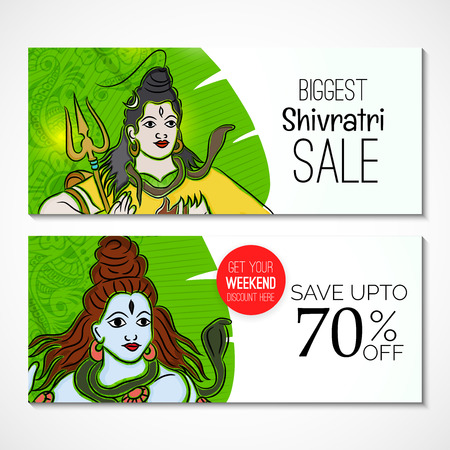 Happy Shivratri typography illustration for card,  poster, discount sale. Illustration