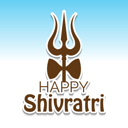 Happy Shivratri banner. Illustration