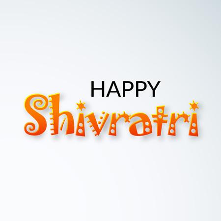 Happy Shivratri text in transparent background. Illustration
