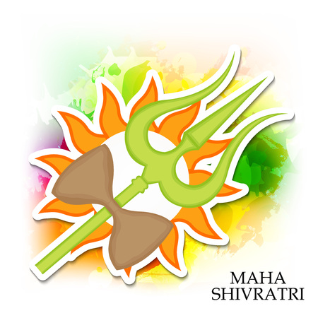 Happy Shivratri banner. Ilustração