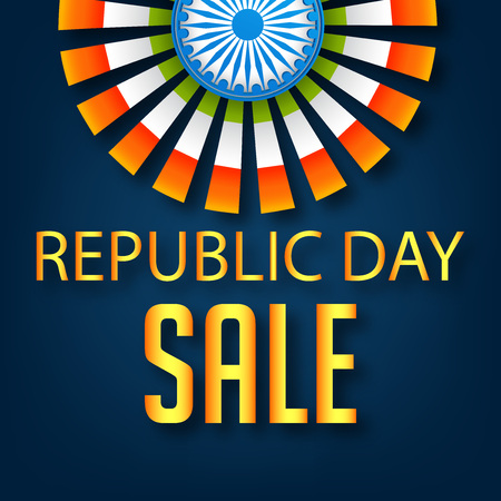 Happy Republic day banner.