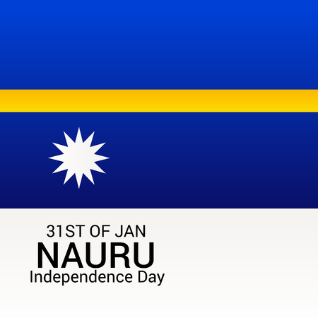 Nauru Independence Day Vector illustration.