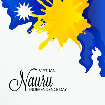 Nauru Independence Day Vector illustration.