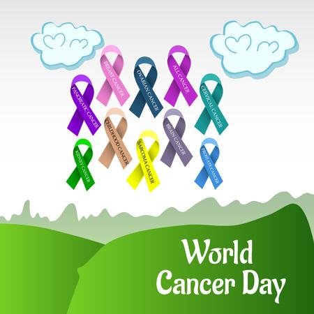 World Cancer Day. Иллюстрация