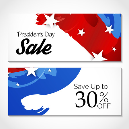 Happy Presidents Day sale up to 30% with stars and stripes