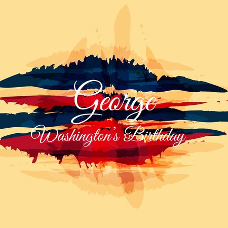 George Washington Birthday. 矢量图像