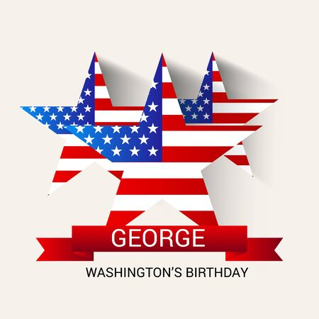 George Washington Birthday. Vector illustration. Illustration