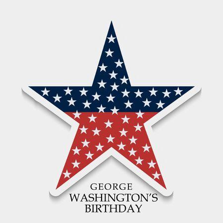 George Washington Birthday design template Illustration