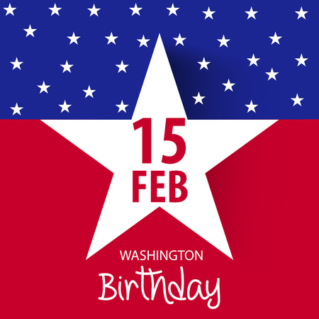 George Washington Birthday design template Illustration