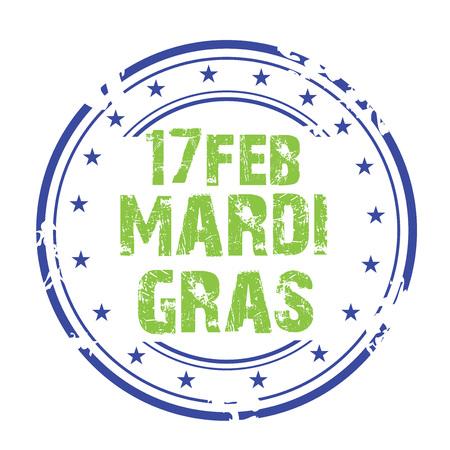 Mardi Gras stamp. Vector illustration. Stock Vector - 94437135