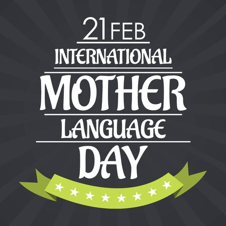 International Mother Language Day. Vector illustration. Illustration