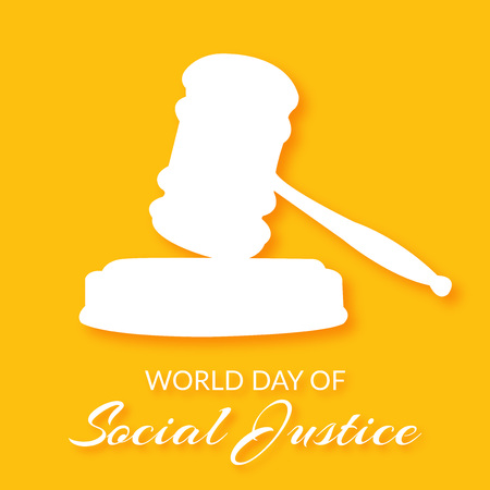 World Day of Social Justice. Vector illustration. Illustration