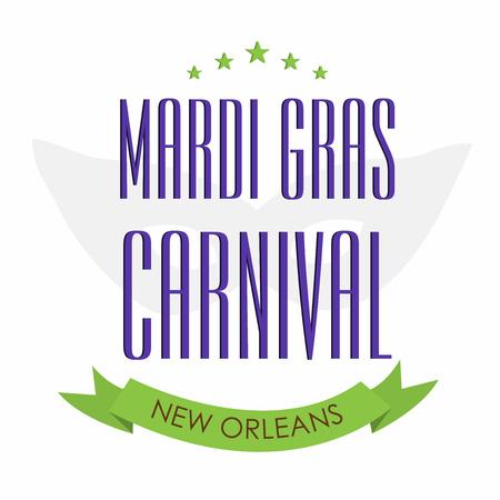 Mardi Gras design template Illustration