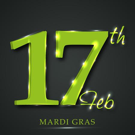 Mardi Gras design template Stock Vector - 94351618