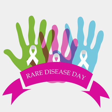 Rare Disease Day card pattern design