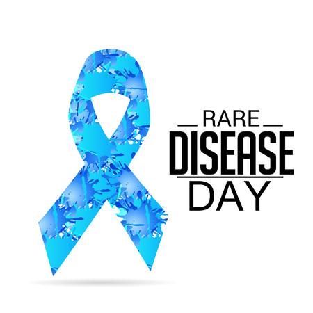 Rare Disease Day card pattern design
