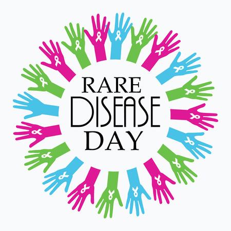 Rare Disease Day template banner design. Reklamní fotografie - 94308906