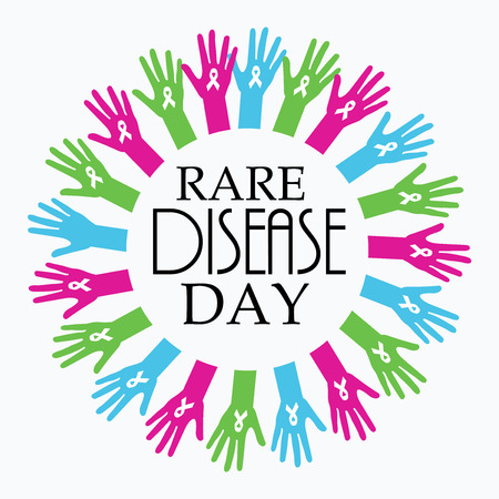 Rare Disease Day template banner design.