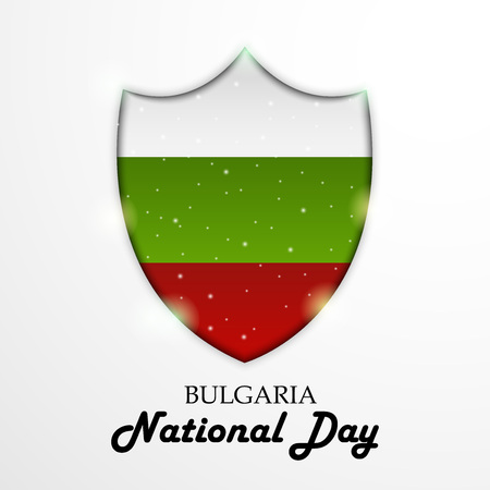 Bulgaria National Day with shield.