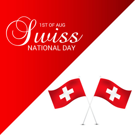 Swiss National Day. Stock Vector - 94602456