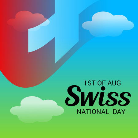 Swiss National Day. Stock Vector - 94602464